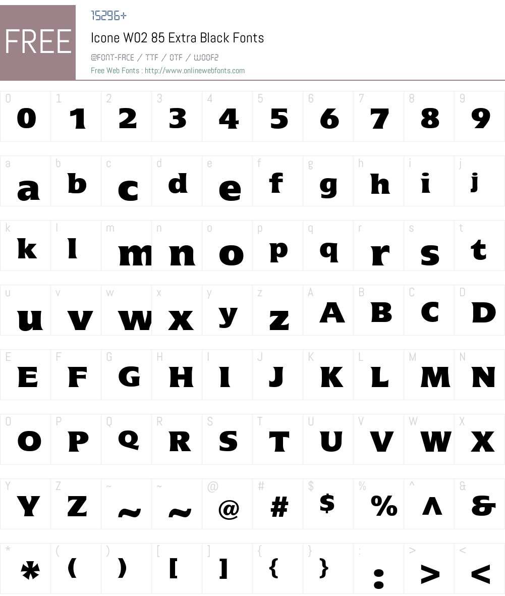 Icone Font Screenshots