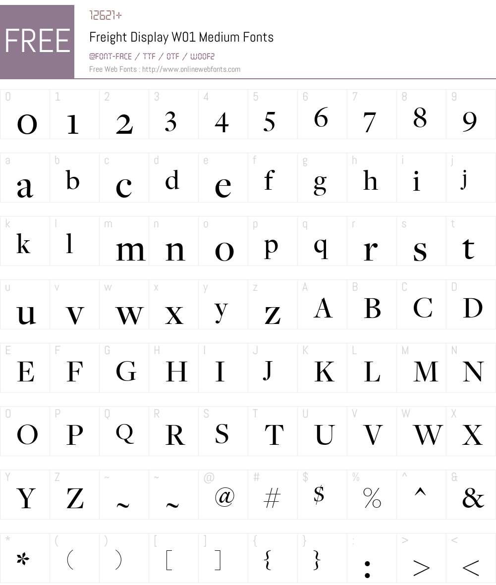 FreightDisplayW01-Medium Font Screenshots