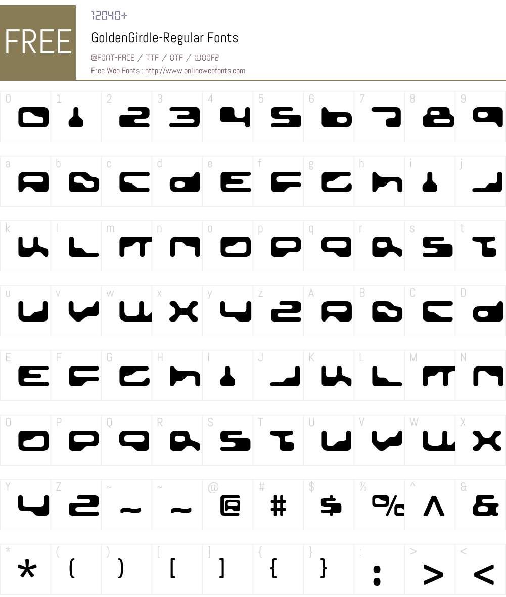 Golden Girdle Font Screenshots