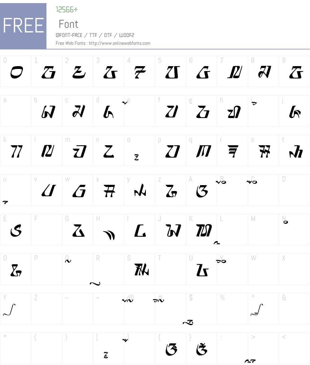 elnaya - aksara sunda Font Screenshots