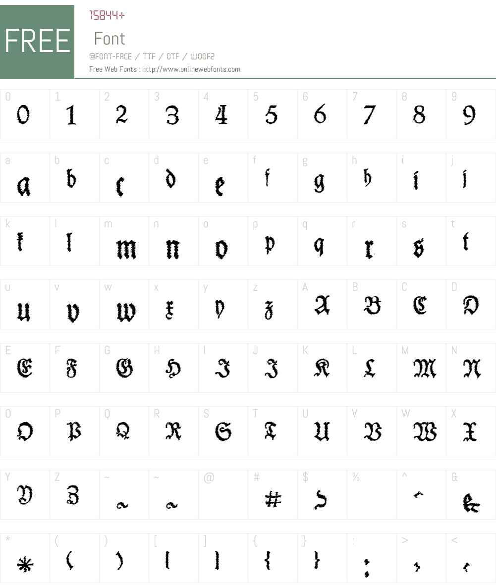 Schneider Buch Deutsch Trash Free Font Screenshots