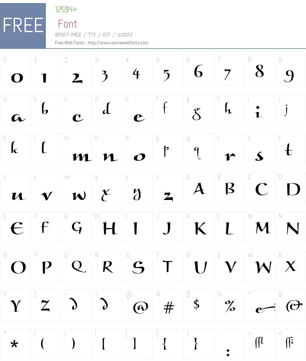 Braganza ITC Font Screenshots