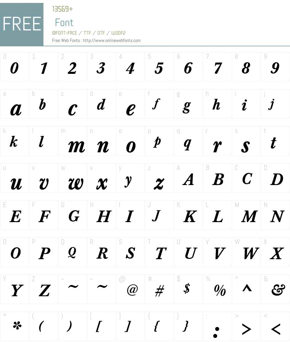 Baskerville T Font Screenshots