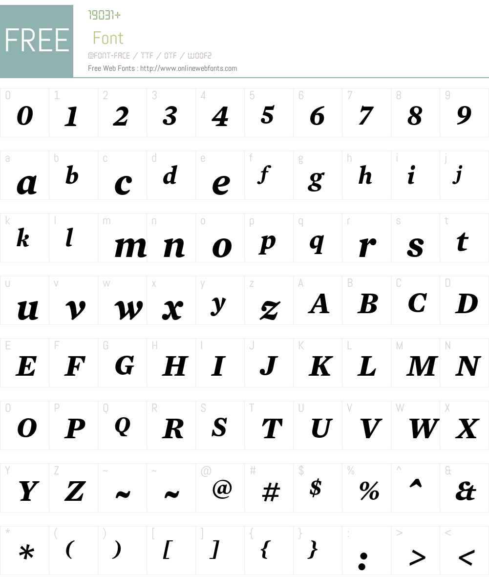 Mercury Text G4 Font Screenshots