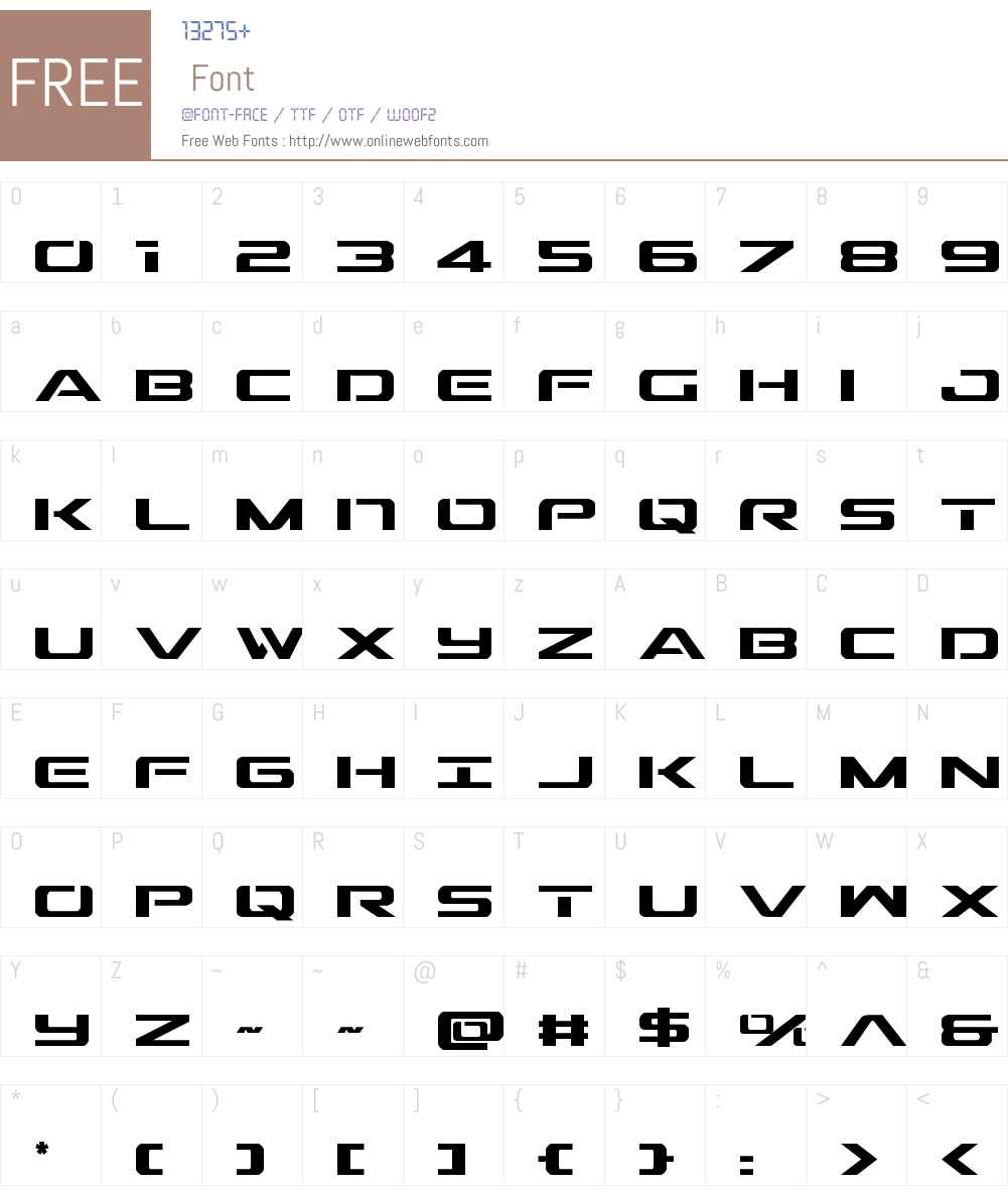Outrider Condensed Font Screenshots