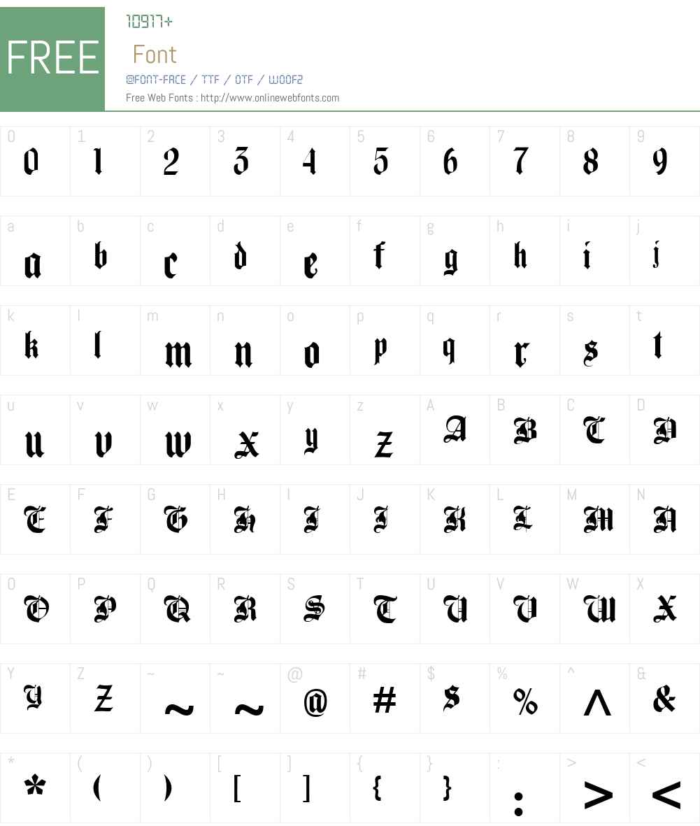 Beckett-Kanzlei Font Screenshots