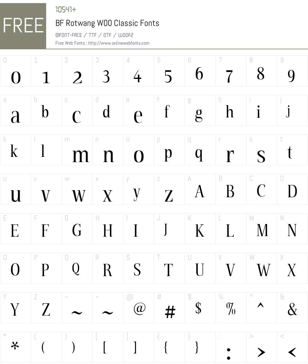 BFRotwangW00-Classic Font Screenshots