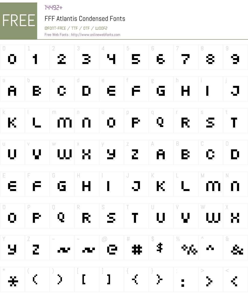 FFF Atlantis Condensed Font Screenshots