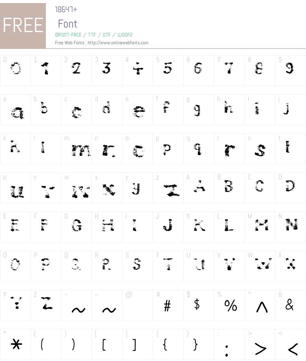 Compostable Font Screenshots