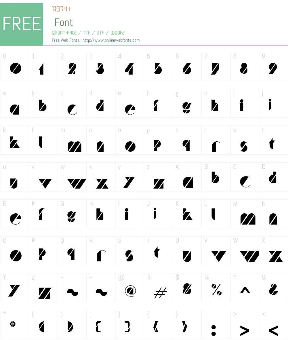 Cane Font Screenshots