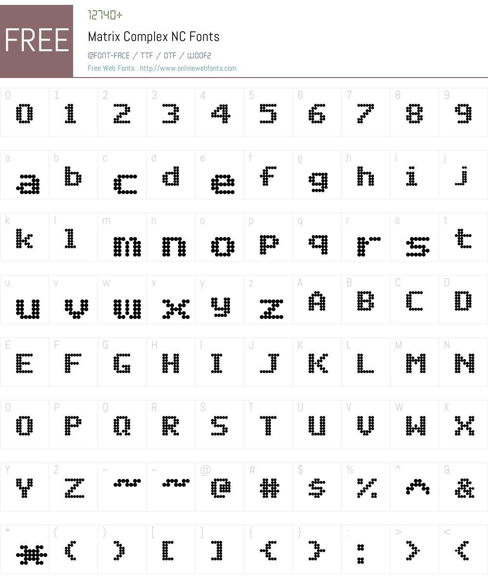 Matrix Complex NC Font Screenshots