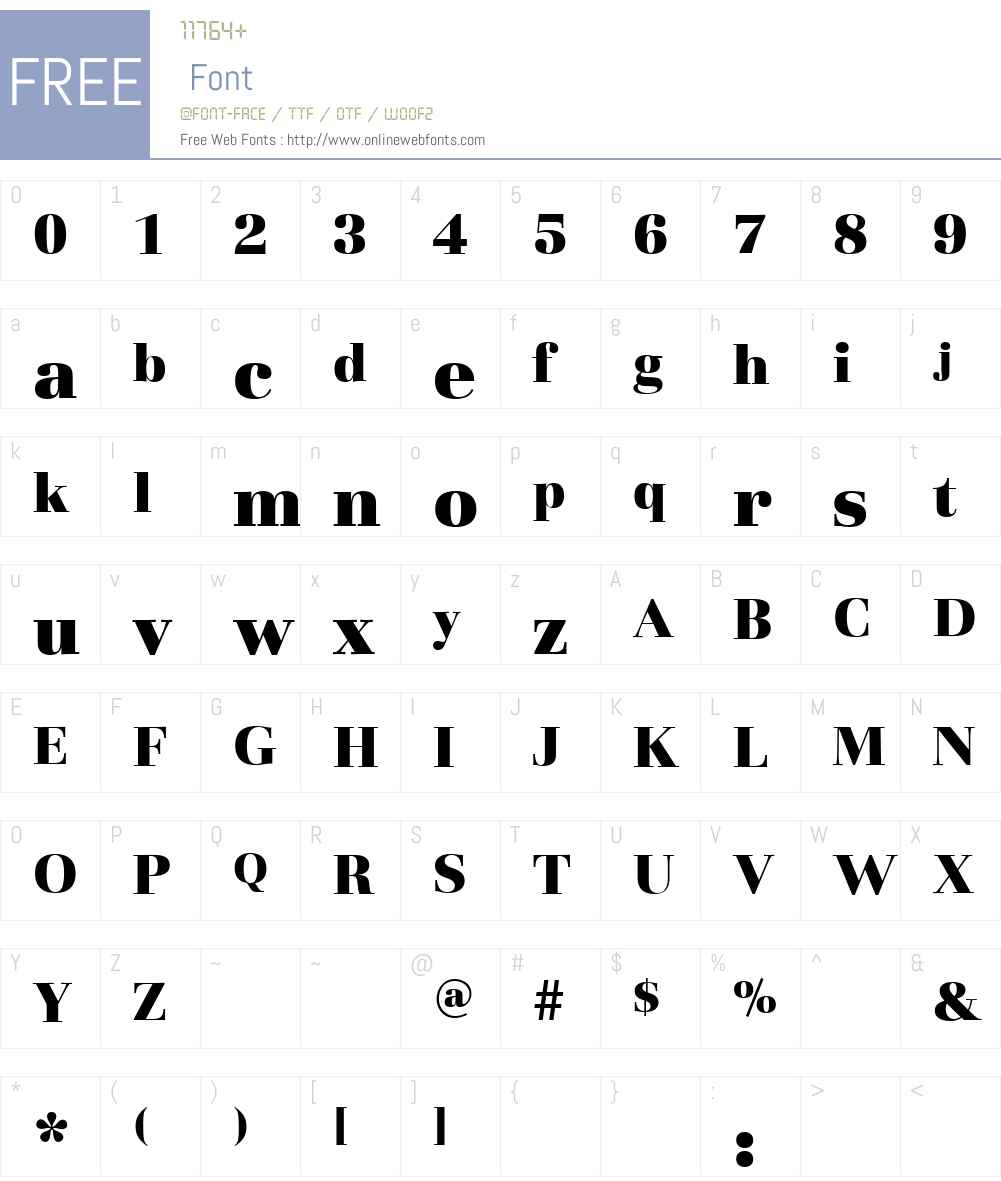 BasiliaW00-TBlack Font Screenshots