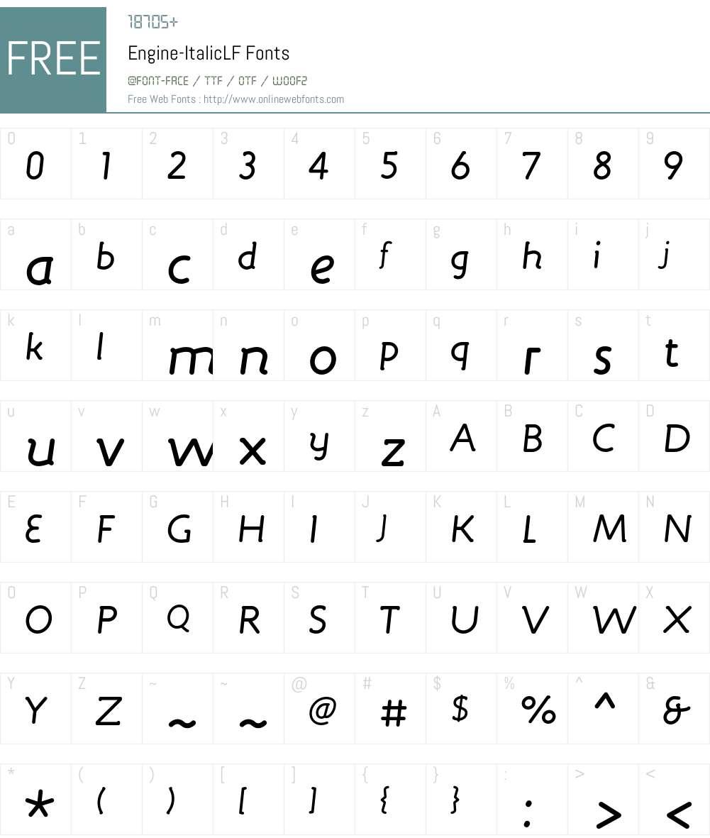 Engine Font Screenshots