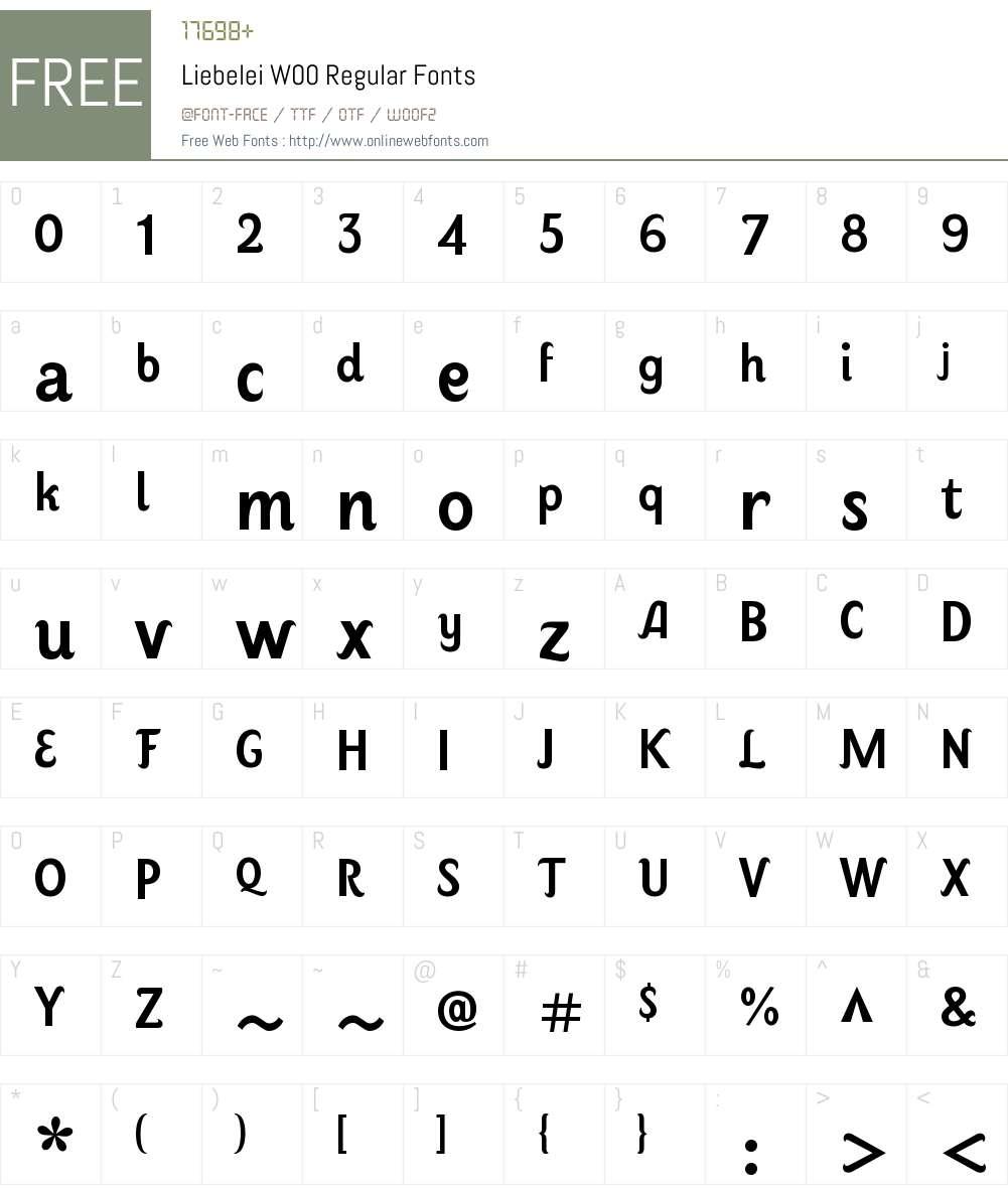 LiebeleiW00-Regular Font Screenshots