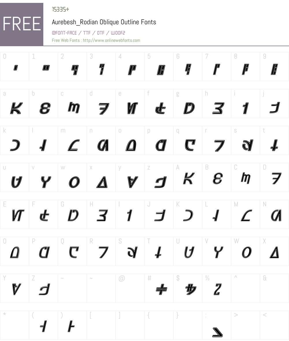 Aurebesh_Rodian Font Screenshots