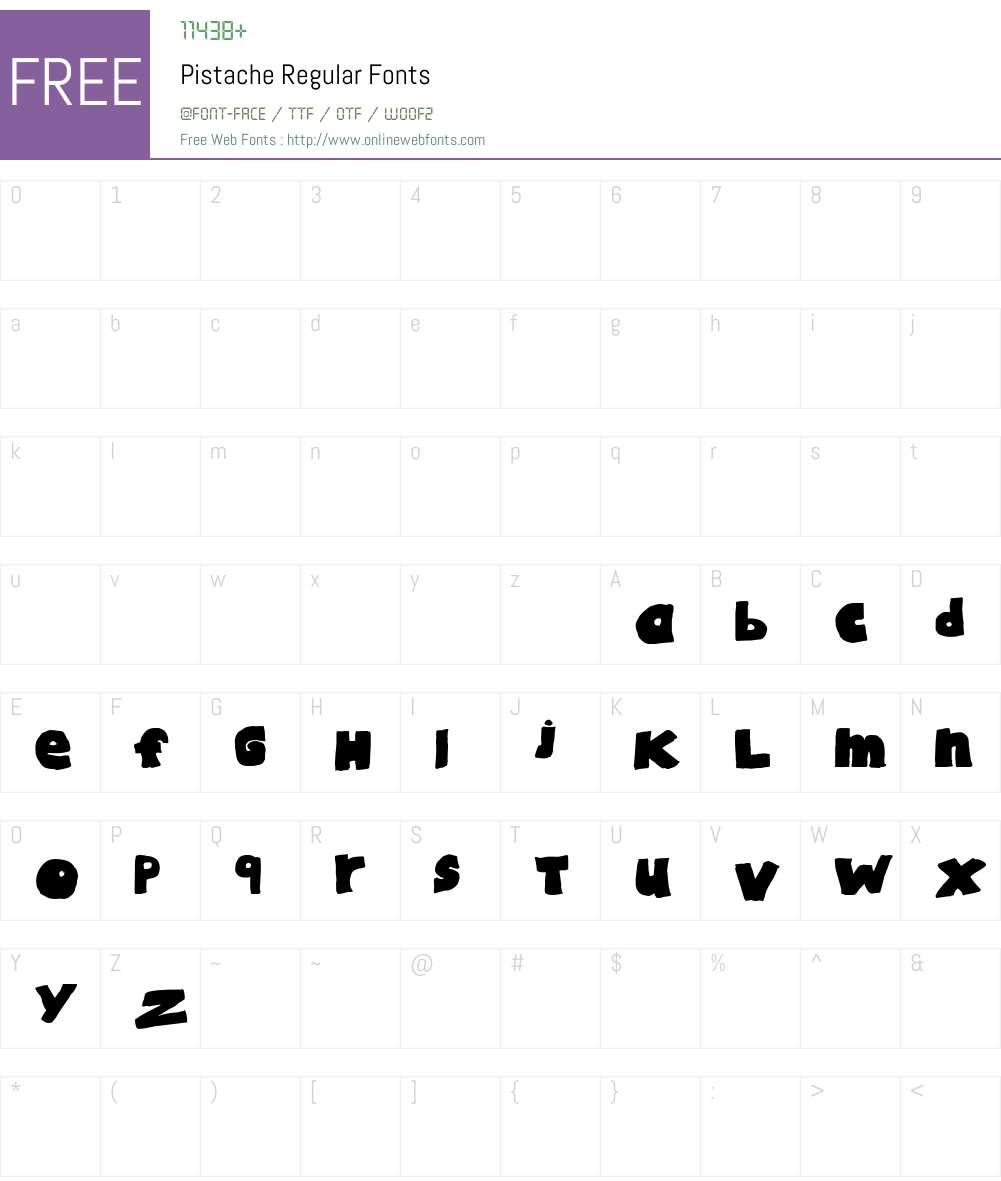 Pistache Font Screenshots