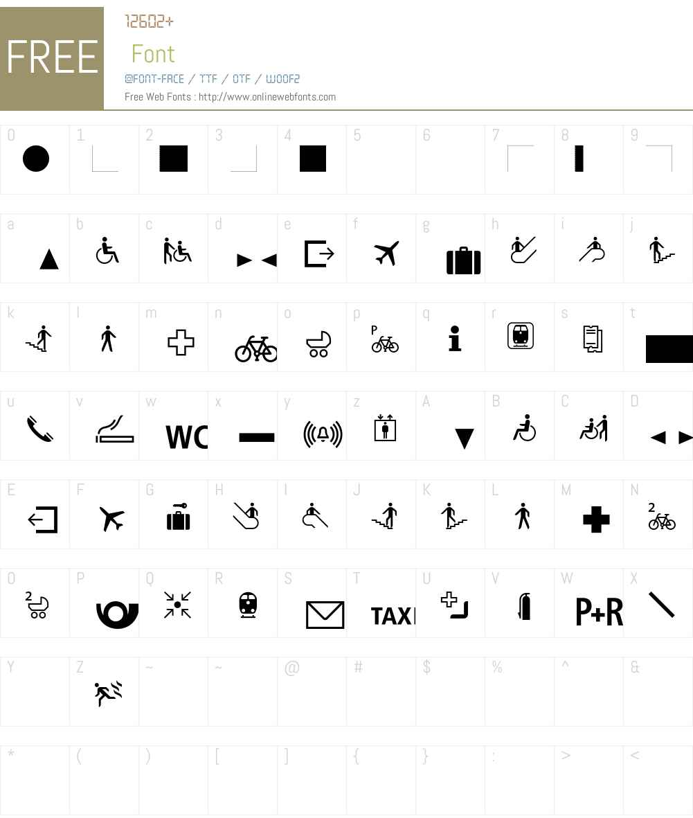 BVGPictEins Font Screenshots