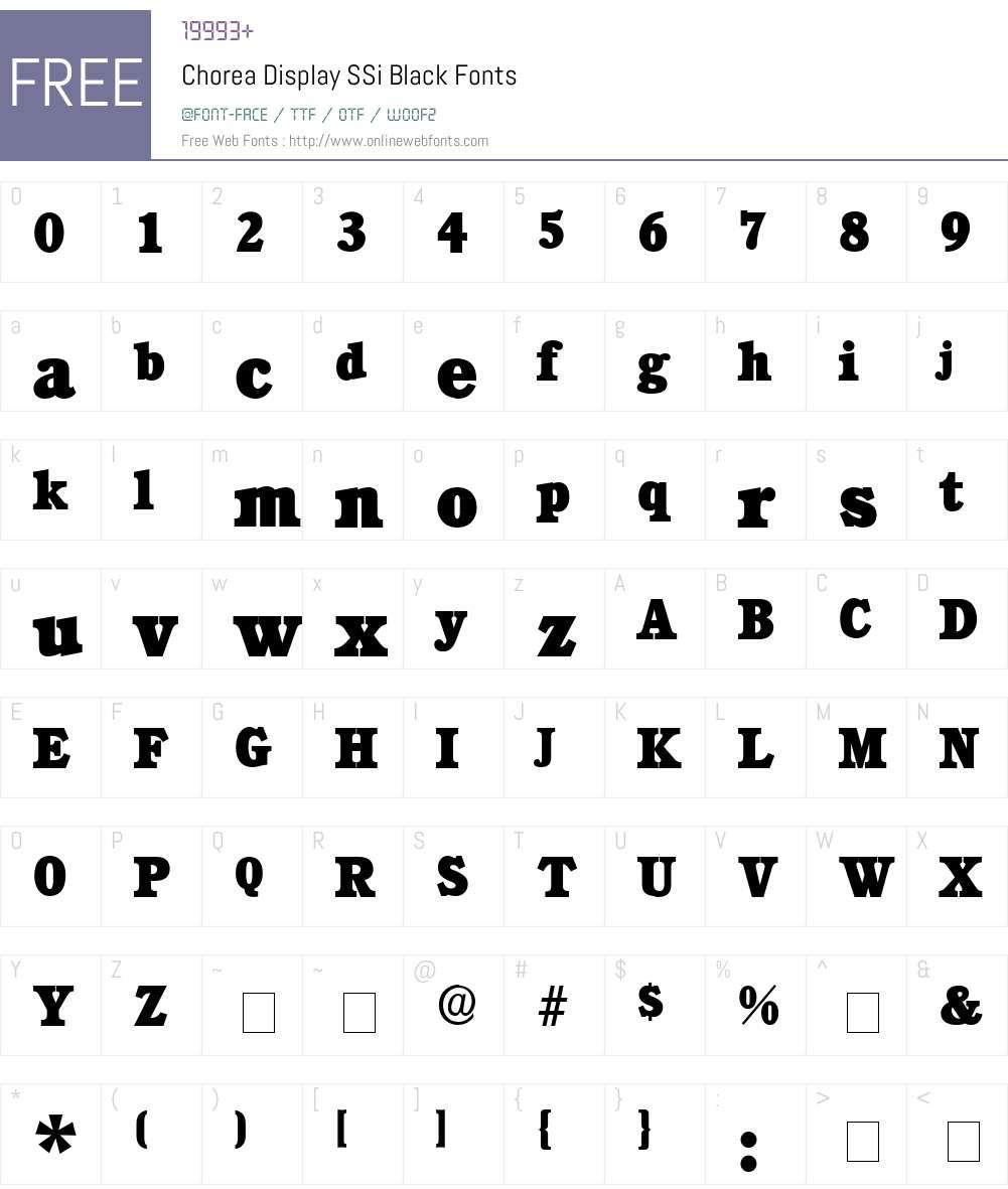 Chorea Display SSi Font Screenshots