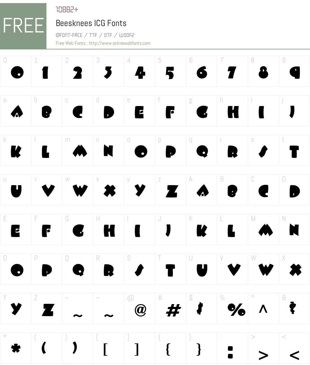Beesknees ICG Font Screenshots