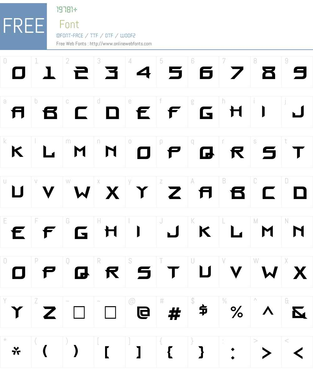 Proun Font Screenshots