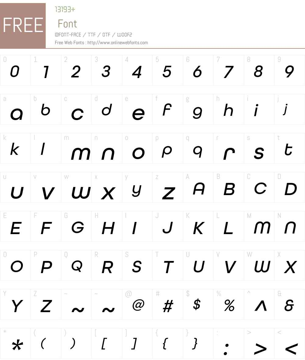 AllRoundGothicW01-MediumObl Font Screenshots