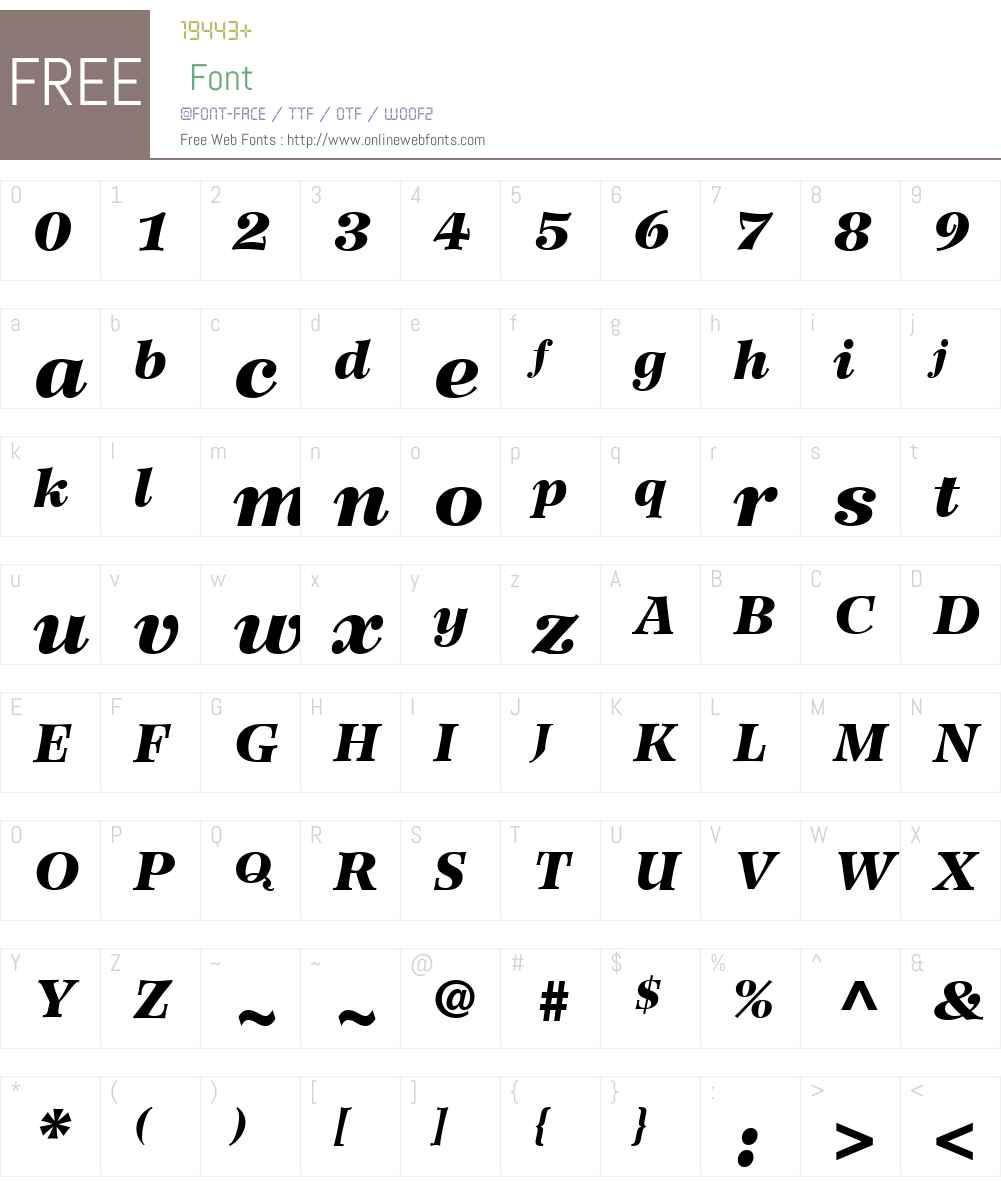 WilkeLTW01-96BlackItalic Font Screenshots