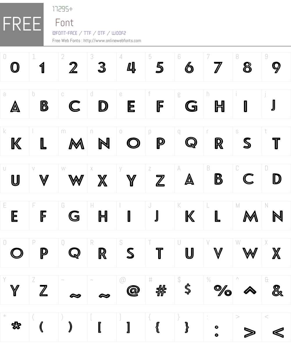 LeHavreRoughW01-CenterlineReversed Font Screenshots