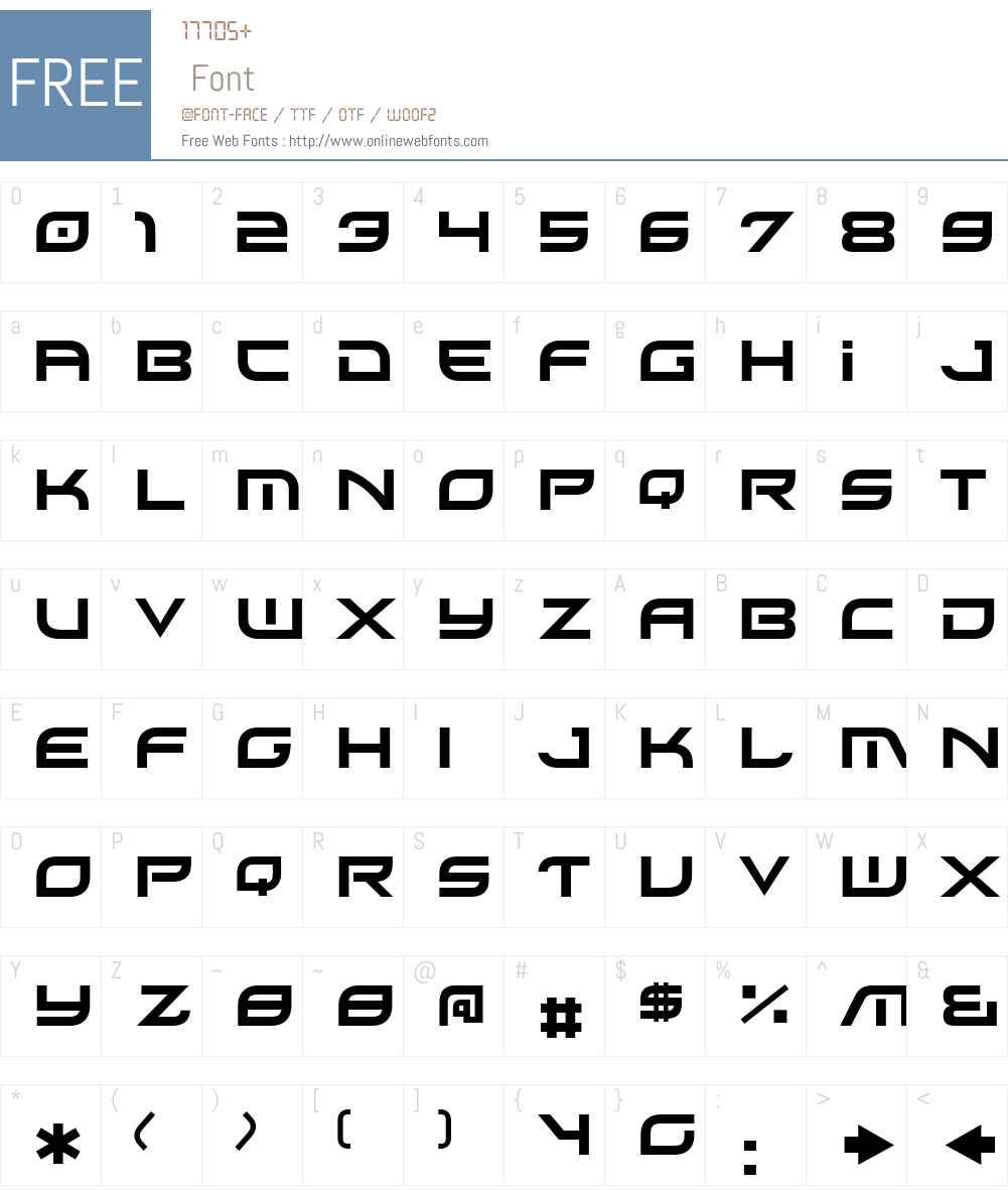 Xirod Font Screenshots
