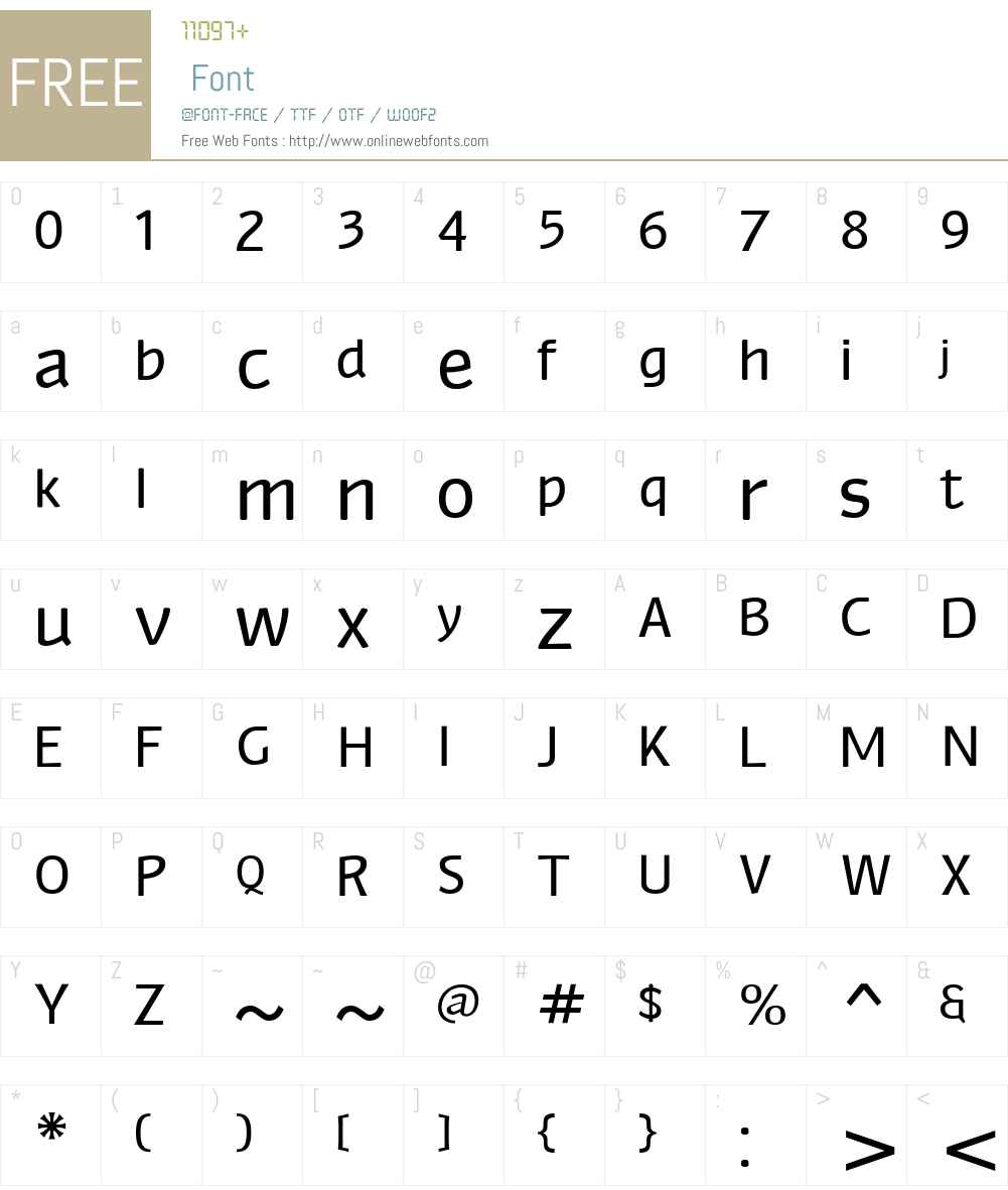 Myndraine Font Screenshots
