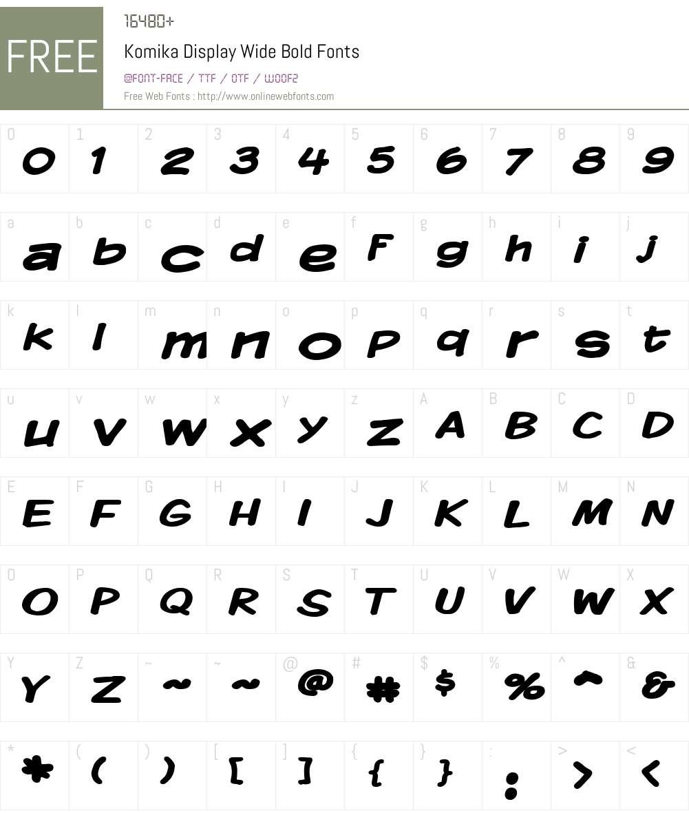 Komika Display Wide Font Screenshots