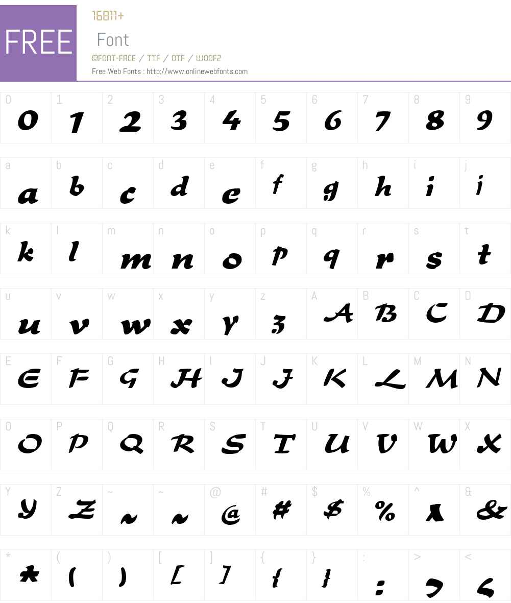 LottoW01-Regular Font Screenshots