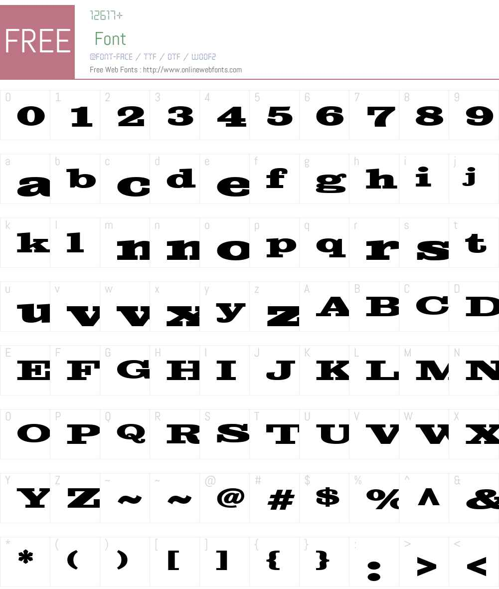 SutroW01-BoldExtended Font Screenshots