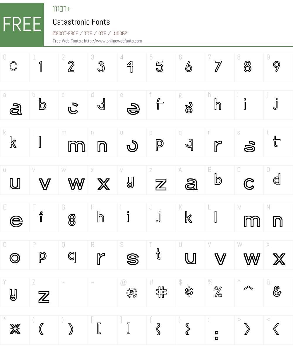 Catastronic Font Screenshots