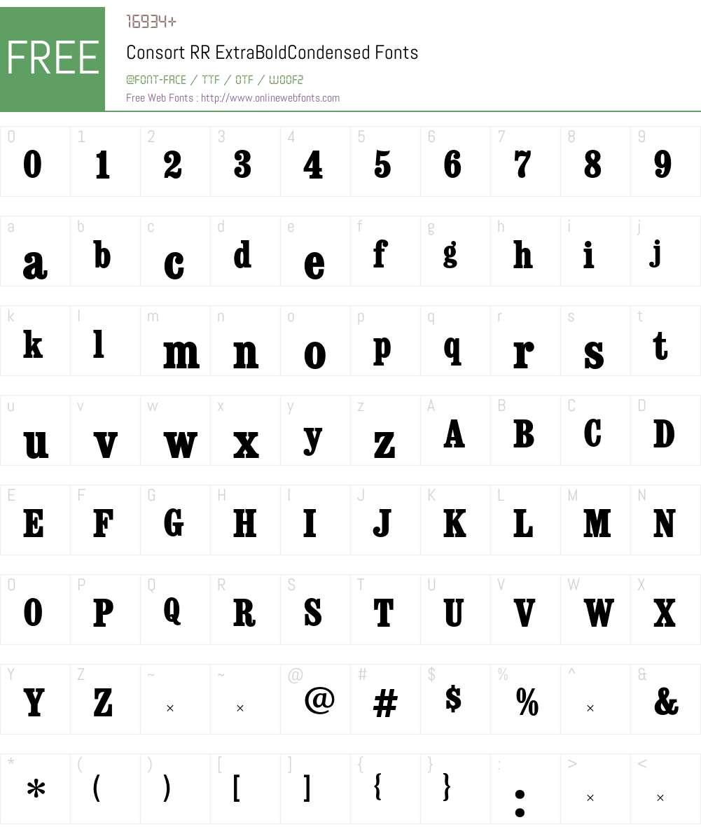 ConsortRR Font Screenshots