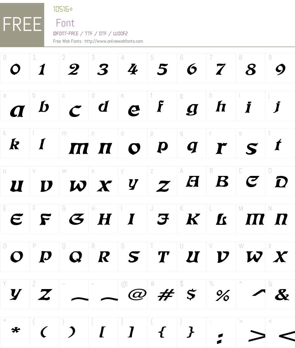 Freedom Extended Font Screenshots