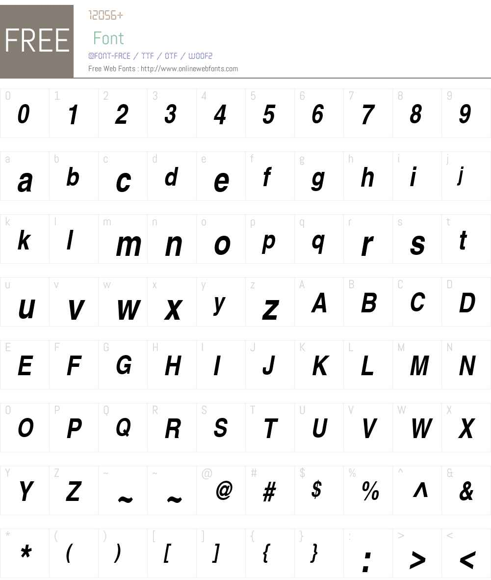 Nimbus Sans L Font Screenshots
