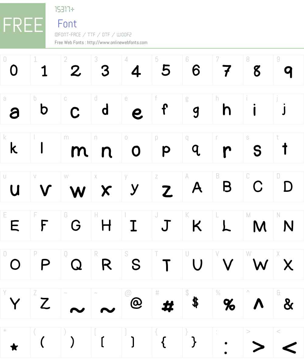 SKElementary Font Screenshots