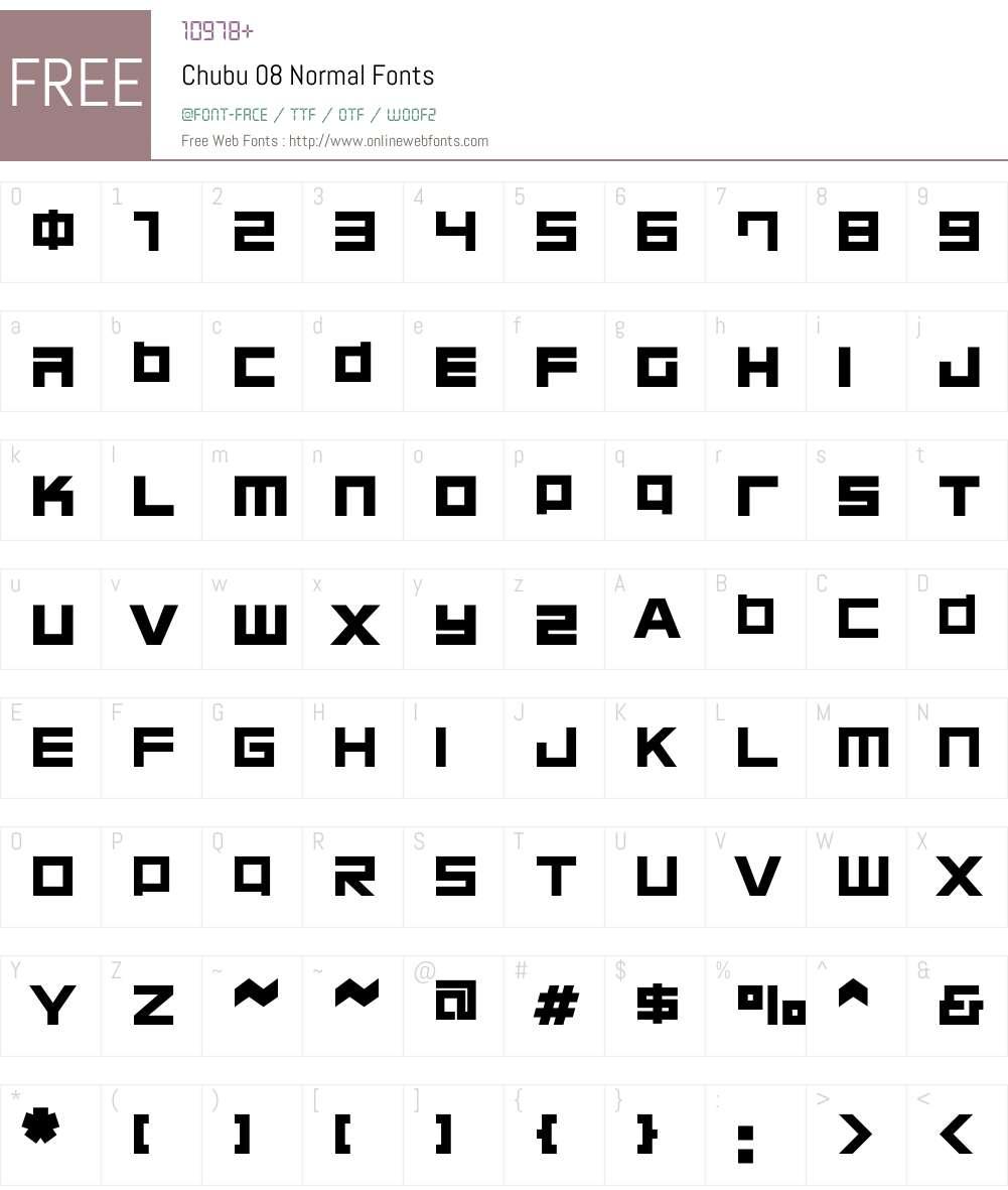 Chubu 08 Normal Font Screenshots