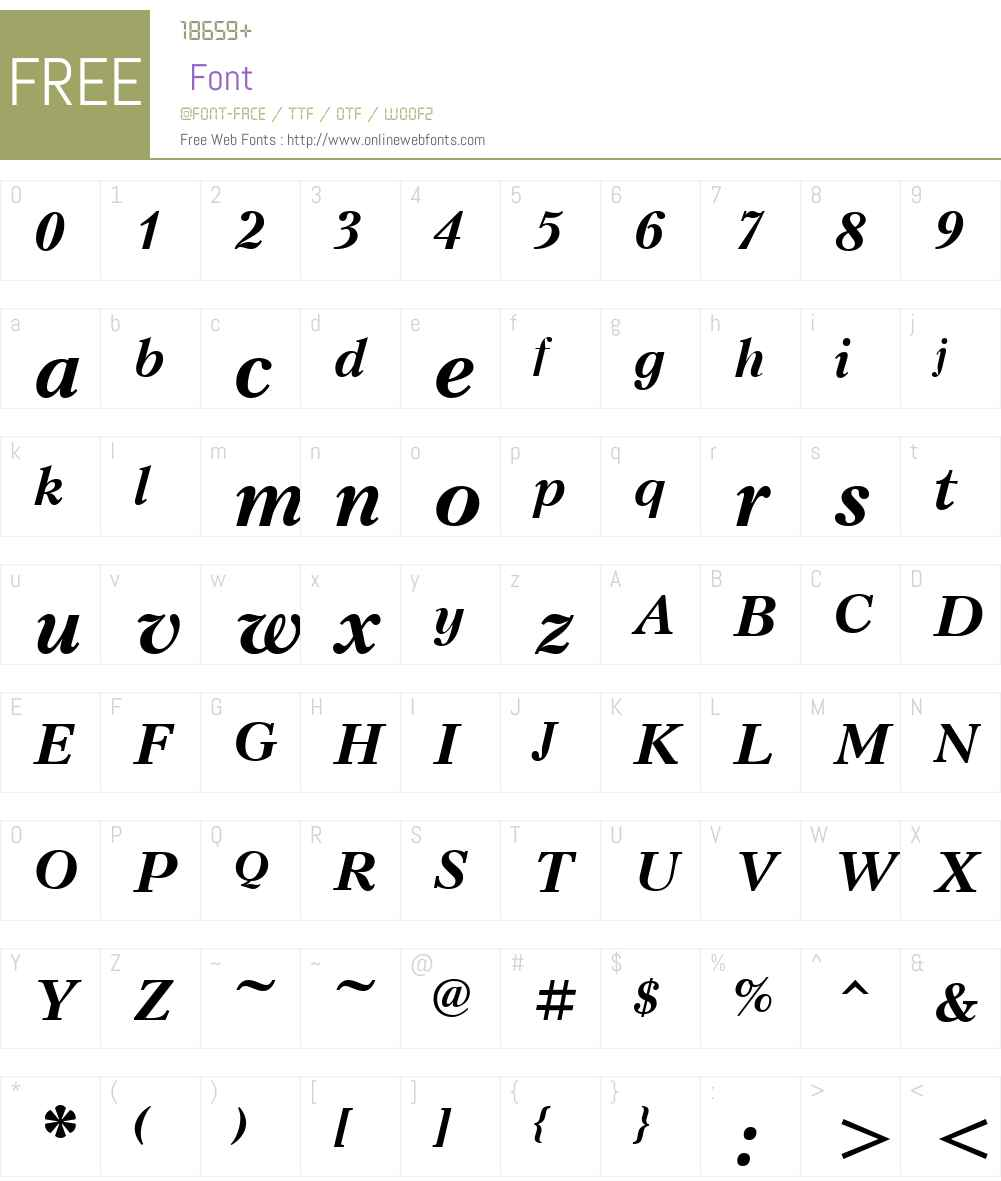 KudryashevW01-BoldItalic Font Screenshots