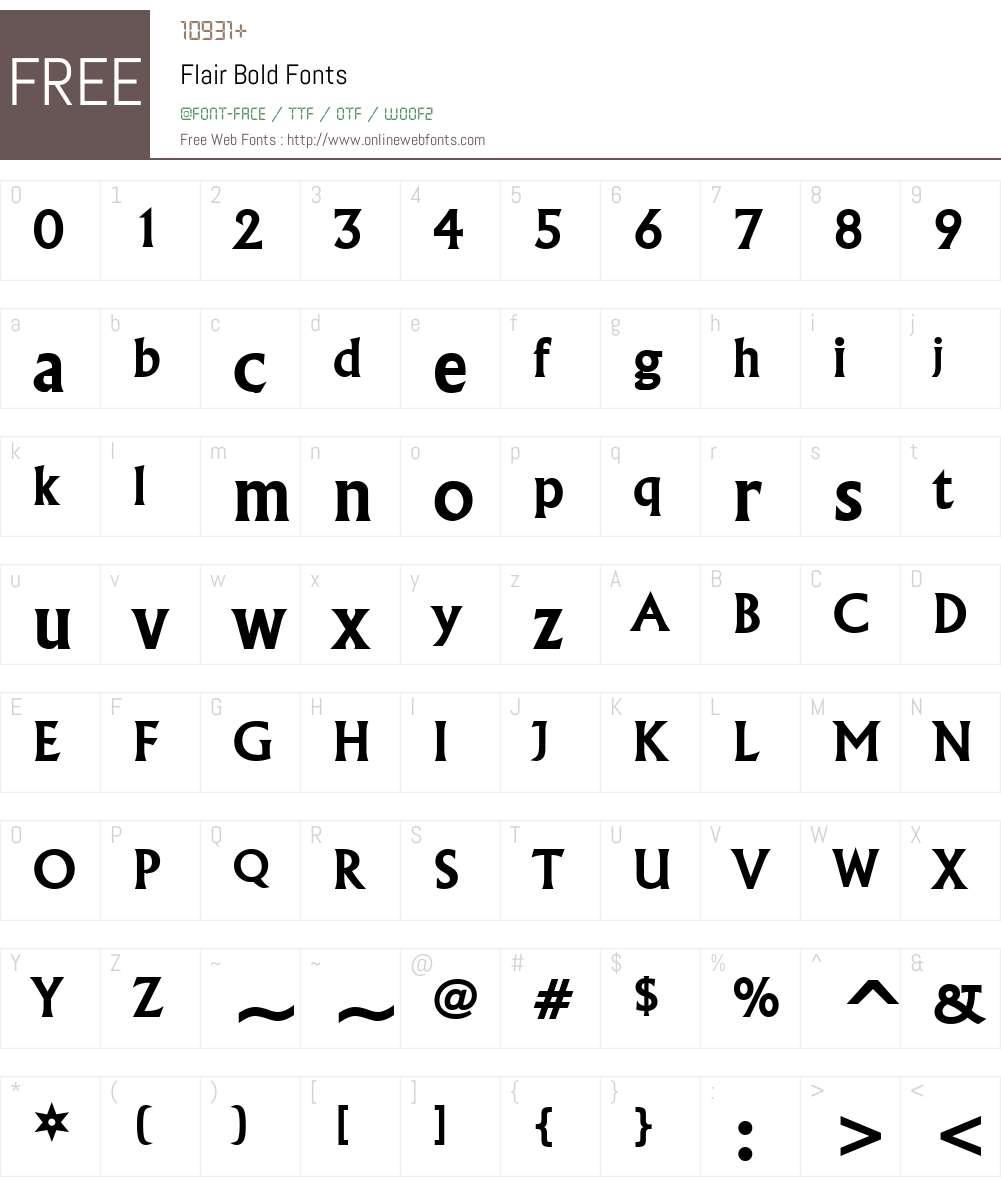 Flair Font Screenshots