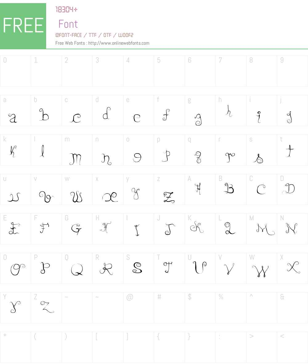 DirtyLady Font Screenshots