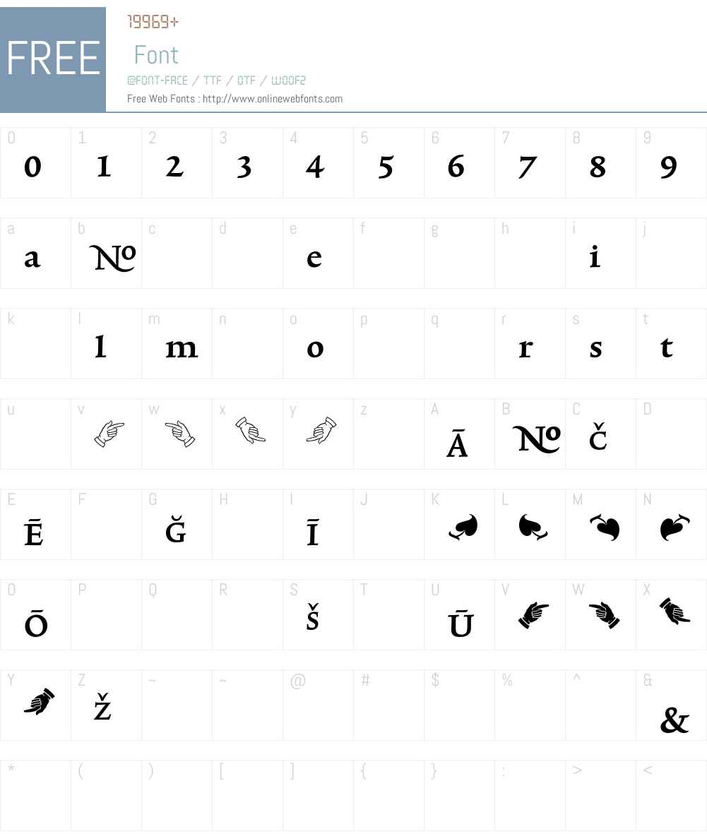 TriniteNo3 Font Screenshots