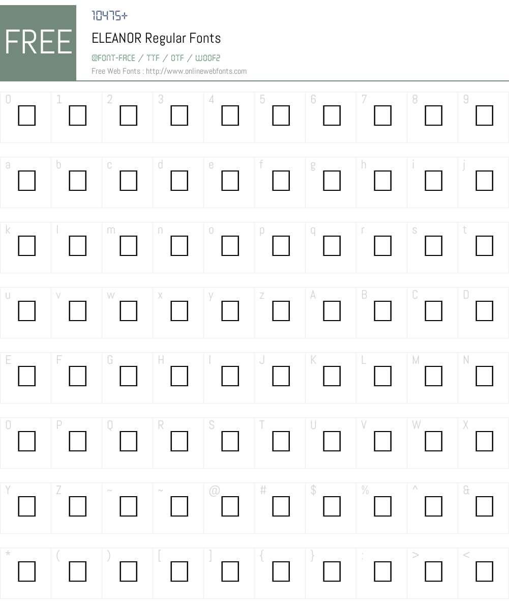 ELEANOR Font Screenshots