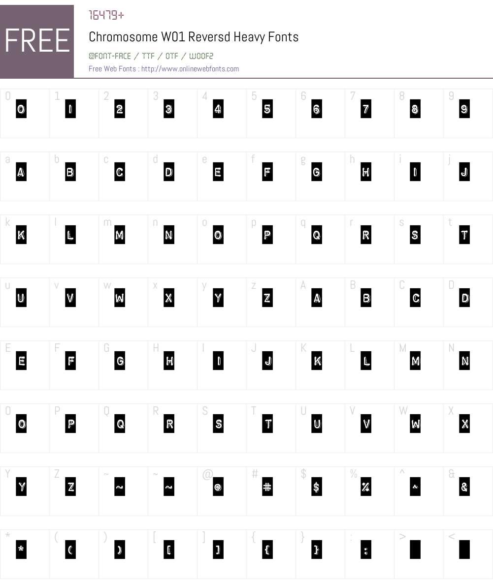 ChromosomeW01-ReversdHeavy Font Screenshots