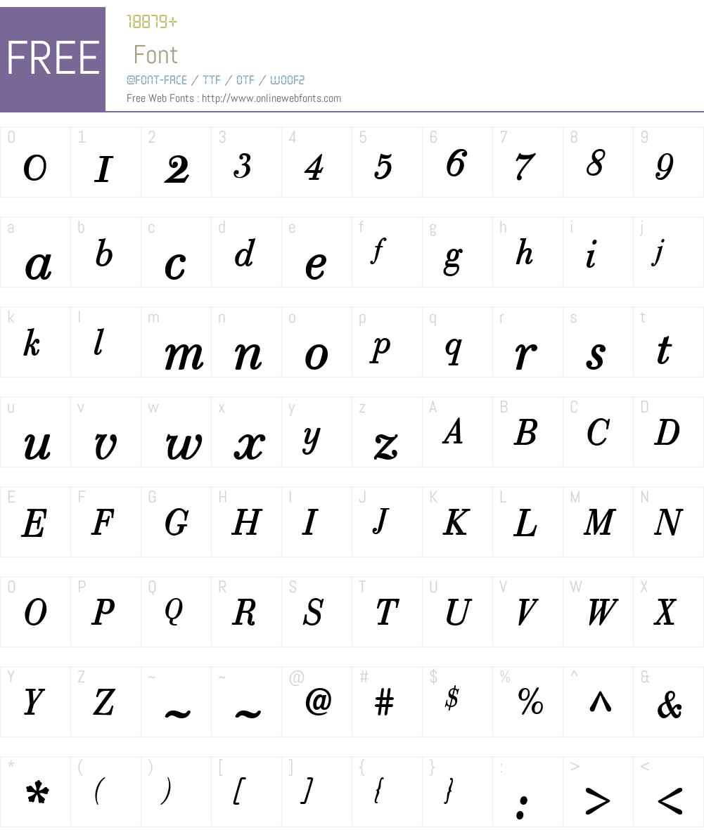 RobustaW01-RomanItalic Font Screenshots