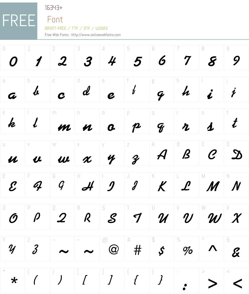 Kauflinn Font Screenshots