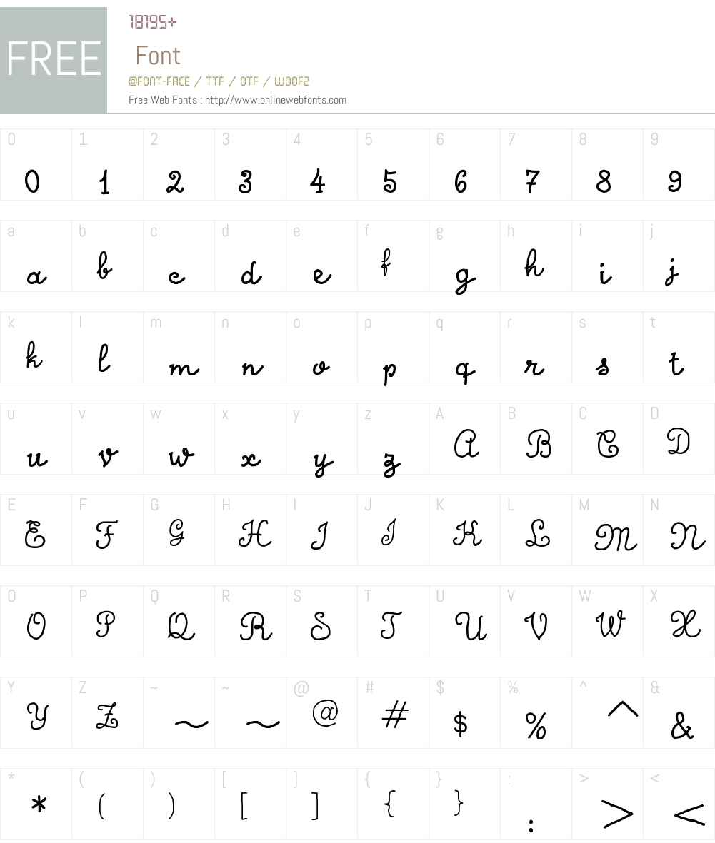 Calligraphy Hand Made Font Screenshots
