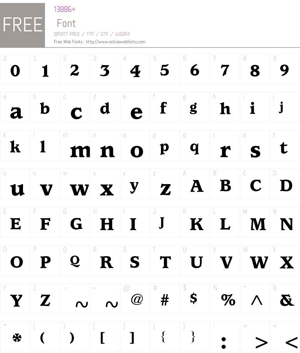 ITC Usherwood LT Font Screenshots