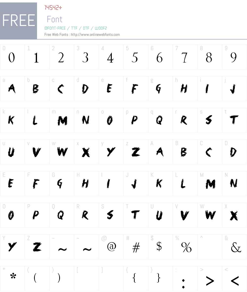 Glass Door Font Screenshots