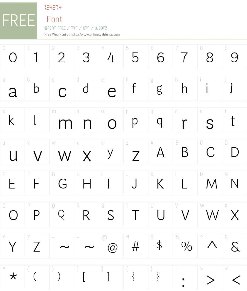 GuanabaraSnsW01-XLt Font Screenshots